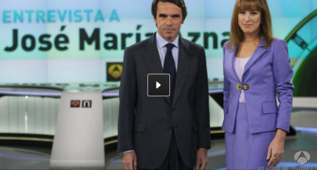 La comunicación no verbal de Aznar en Antena 3